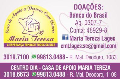 Casa de Apoio a Pessoas com Câncer Maria Tereza em Lages - Guia Múltiplo 0db4efc373