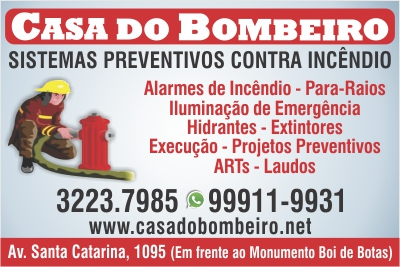 Casa do Bombeiro Sistemas Preventivos contra Incêndio e Extintores ... 761b45adf9